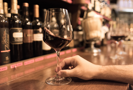 Tara rose glass bar