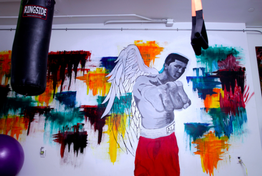 Hudson boxing gym mural cool art