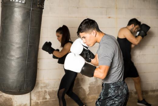 Hudson boxing gym hit punch