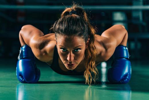 Hudson boxing gym woman push ups