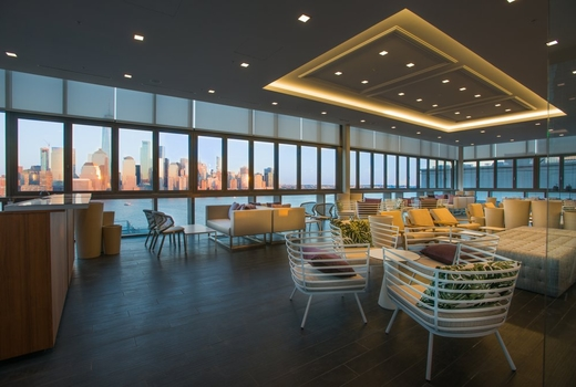 Rooftop exchange inside modern