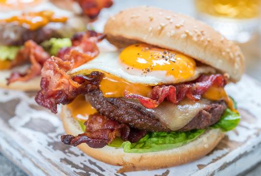 Rooftop exchange breakfast burgers egg yum