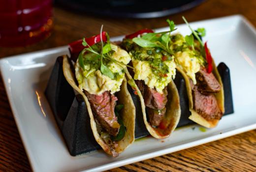 Elgin brunch steak eggs tacos
