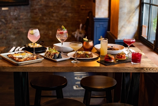 Elgin brunch table spread love