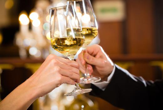 Galata white wine cheers