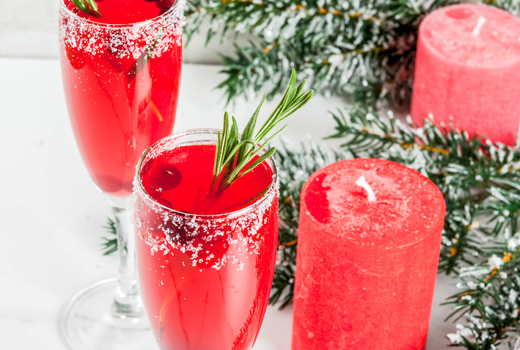 Babeland cranberry bellini drink cheers