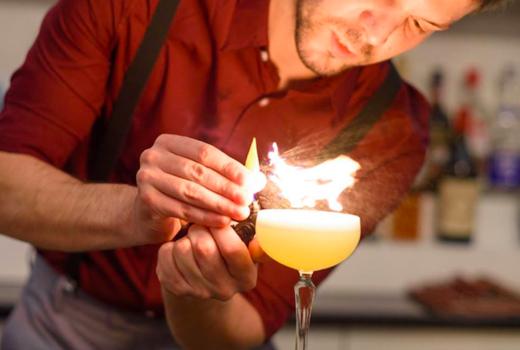 Bazaar thanksgiving cocktail fire drink