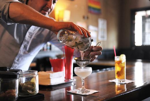 Proper west tge cocktails pour