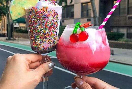 Tipsy scoop drinks cheers pink