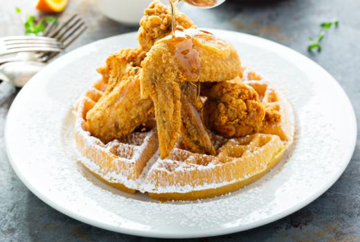 Ainsworth social chicken waffles