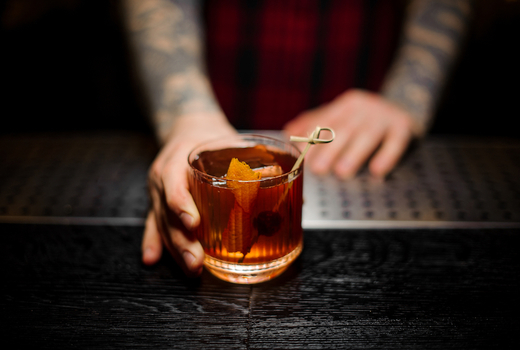 Broadstone cocktail experience drinks halloween old fashioned