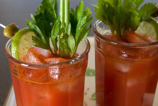 Tara rose brunch bloodys celery