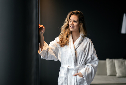 Lings beauty spa robe happy