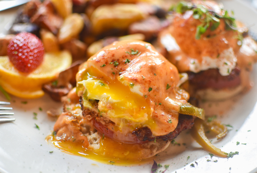 Kaskade eggs benedict brunch