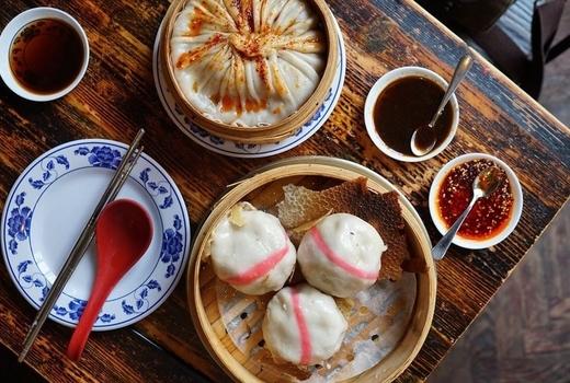 Drunken dumpling spread