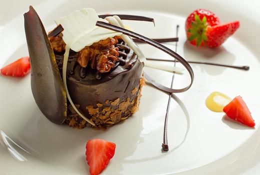 Kaskade dessert dinner chocolate