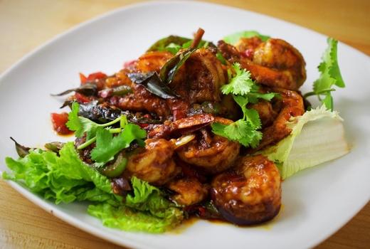 Wok wok shrimp