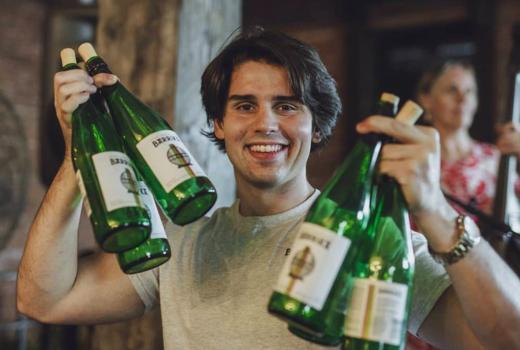 Cassoulet cookoff cider bottles happy