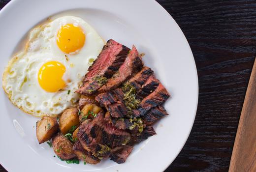 Galli brunch steak and eggs