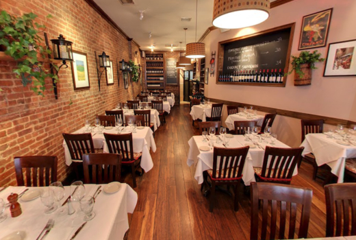 Cara mia oysters inside seating love