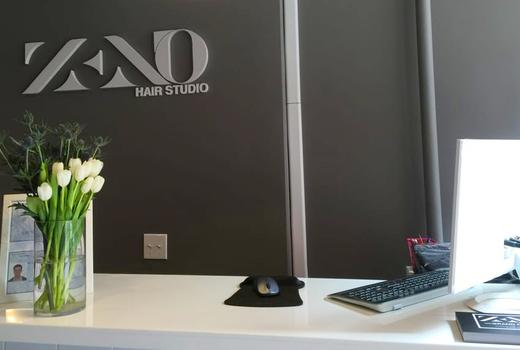Zeno hair studio front desk flowers
