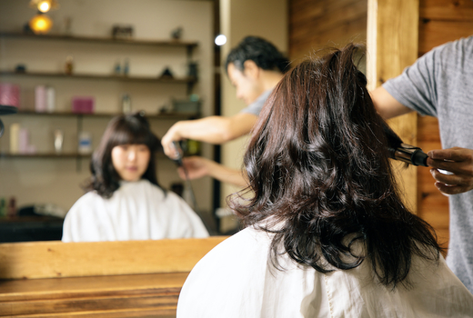 Zeno hair studio curling mirror girl
