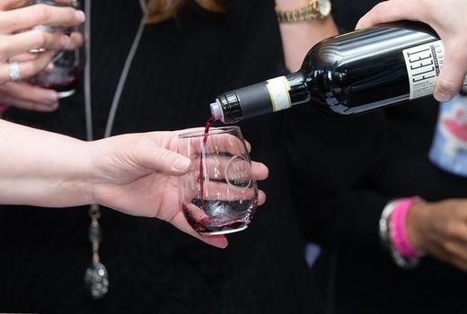 New york wine event wine bottle pour