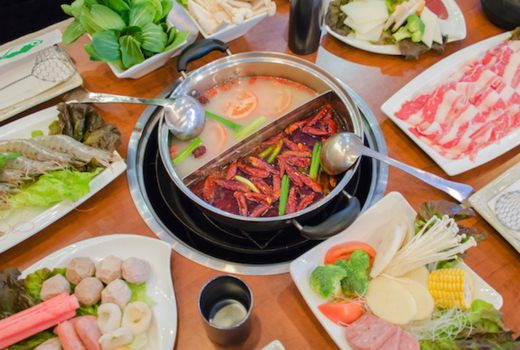 Ding hot pot foods