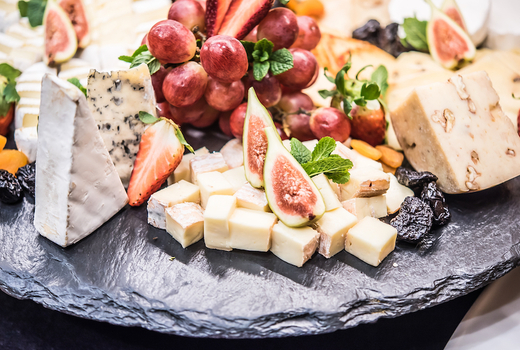 Cool whites summer nights cheese fruits