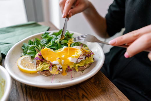 John doe eggs benny avocado toast