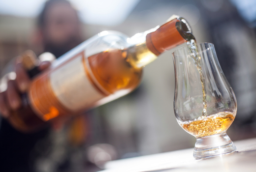 Nyc whiskey festival pour glass