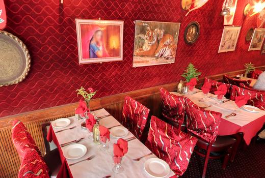 Ghandi cafe interior red