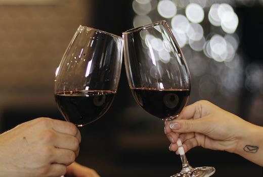 Ghandi cafe red wine cheers