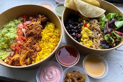 Pinks cantina burrito bowls
