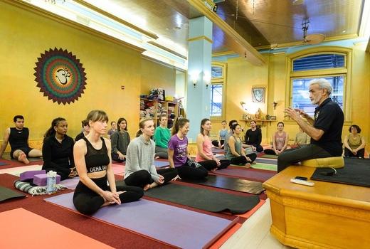 Dharma yoga inside studio