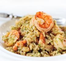Essex restaurant shrimp risotto