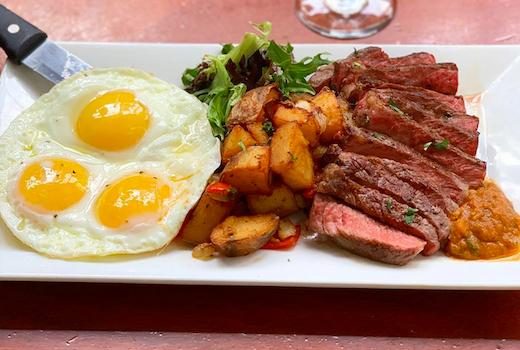 Essex restaurant steak eggs
