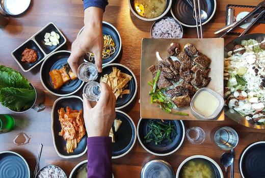 Hyun korean bbq nyc spread