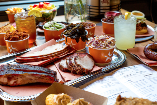 Hill country bbq main spread lots in love