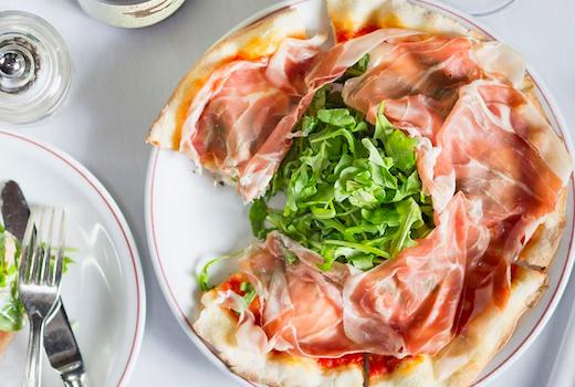 Bellini prosciutto pizza