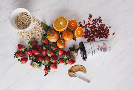 Blix strawberrry oats cup