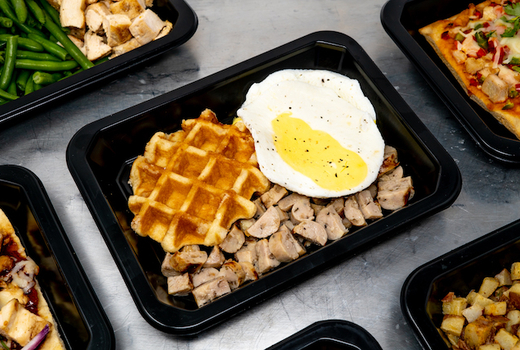 Icon meals eggs waffles