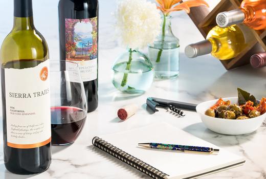 Martha stewart wine co writing tools