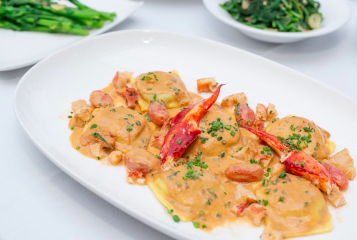 Segreta lobster ravioli yum