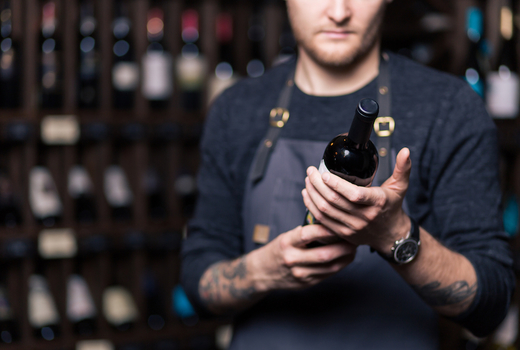Sola pasta bar wine bottle selection