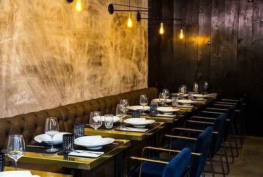 Sola pasta bar seats wall