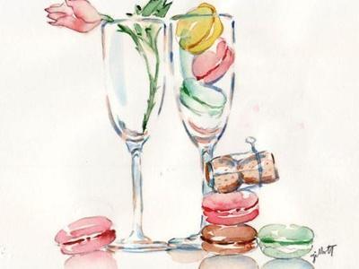 Macaron champagne