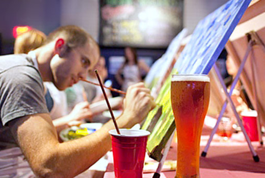 50 Off A 2 Hour Bar Painting Class For One Or Two Persons With Paint Nite Nyc