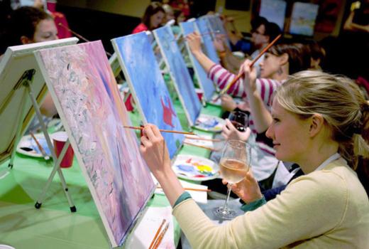 50 Off 2 Hour Bar Painting Class For One Or For Two People At Paint Nite Nyc