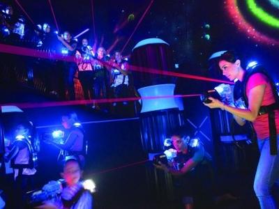 Laser Tag Amp Rooftop Brunch Party Hudson Terrace Events